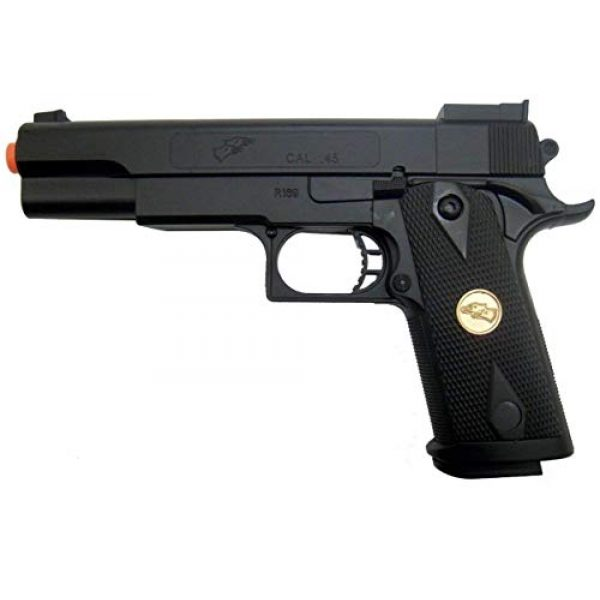 Double Eagle Airsoft Pistol 4 Double Eagle A&N 275FPS P169 1911 Airsoft Hand Gun Full Size Spring Pistol w 6mm BBS BB Fantastic Starter Airsoft Pistol Government .45