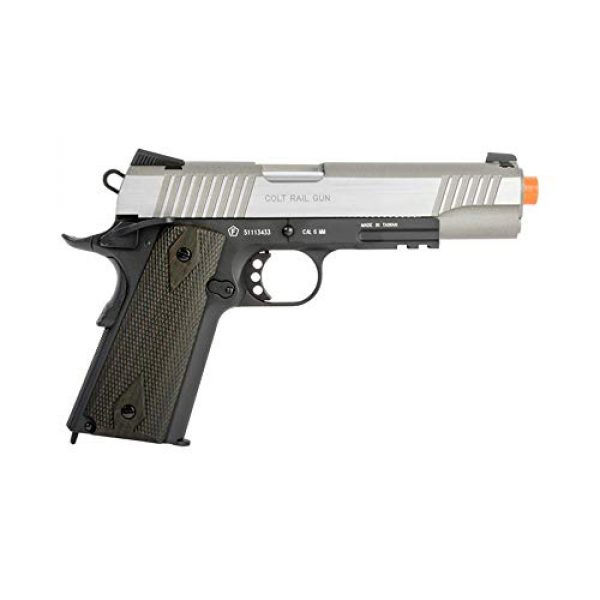KWC Airsoft Pistol 2 Colt 1911 CO2 Full Metal Airsoft Pistol with Hop-Up, 360 FPS, Two-Tone