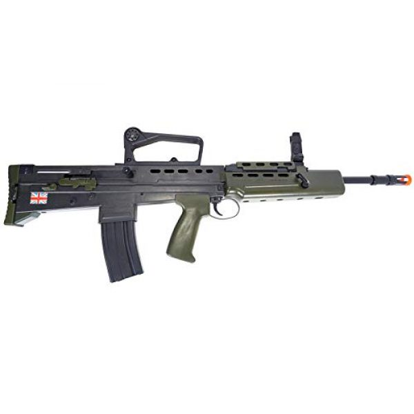 HFC Airsoft Rifle 7 HFC Airsoft Spring Tactical Rifle British Army SA80 Full Size 320FPS Bolt Action with Rail
