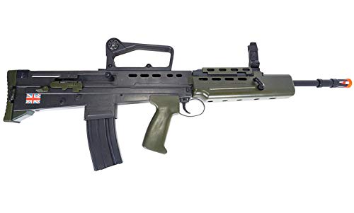 HFC  7 HFC Airsoft Spring Tactical Rifle British Army SA80 Full Size 320FPS Bolt Action with Rail