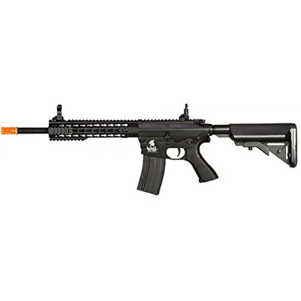 UKARMS Airsoft Rifle 1 UKARMS Lancer Tactical AEG M4 Keymod Electric Automatic Airsoft Rifle Gun - Full Metal Gearbox -