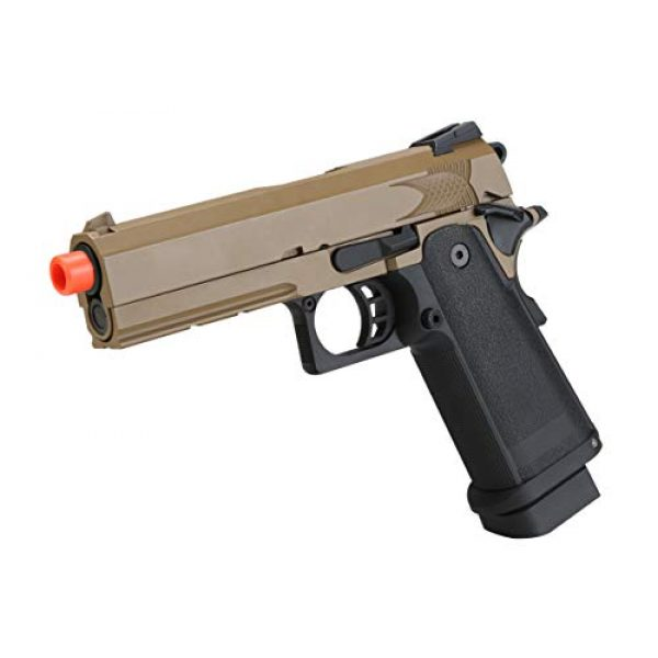 BULLDOG AIRSOFT Airsoft Pistol 2 Airsoft HI-CAPA 4.3 Desert CO2 Pistol with Free Speed Loader BBS and Gun Case [Airsoft Blowback]