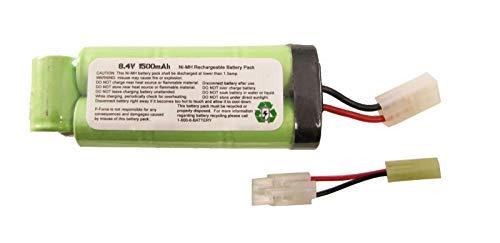 PForce Airsoft Battery Charger 1 PForce Omega SB 8.4v Battery Large Mini Tamiya Connecter 1500mAh NiMH AEG Airsoft