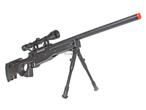 BBTac Airsoft Rifle 1 BBTac BT59 Airsoft Sniper Rifle Bolt Action Type 96 Airsoft Gun with 3X Rifle Scope and Aluminum Bipod