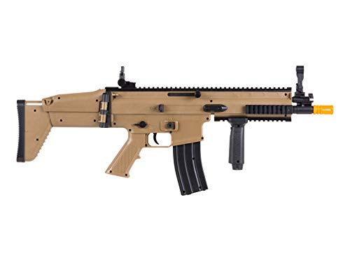 FN Airsoft Rifle 4 FN Scar-L Spring Powered Airsoft Rifle, Tan, 300 FPS