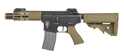 Elite Force Airsoft Rifle 2 Elite Force M4 AEG Automatic 6mm BB Rifle Airsoft Gun, CQC, Black/Tan (2279527)