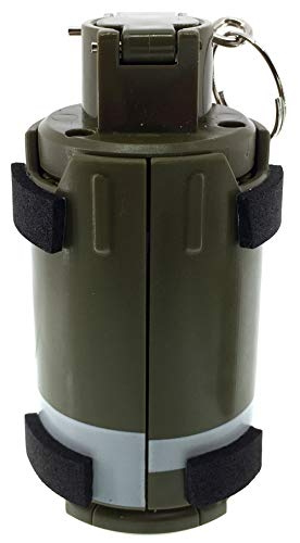 SportPro Airsoft Battery 6 SportPro 110 Round Plastic Spring Powered BB Impact Shower with Holder for Airsoft - Green