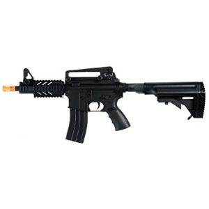 Well Airsoft Rifle 1 Well D3809 M16 CQB Stubby Electric Airsoft Gun Full Auto Assault Rifle FPS-300, Comes with Retractable Crane Stock, High Capacity Magazine(Airsoft Gun)