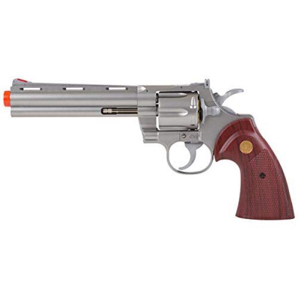 "TSD Airsoft Pistol 2 TSD PY-4480-8739 Zombie Killer .357 6"" Replica Spring Airsoft Revolver BB Gun, Silver, 6-Inch"