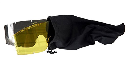 Lancer Tactical Airsoft Goggle 2 Lancer Tactical Additional Goggle Lens in Smoked and Yellow Colors CA-221 CA-223 Series Goggles