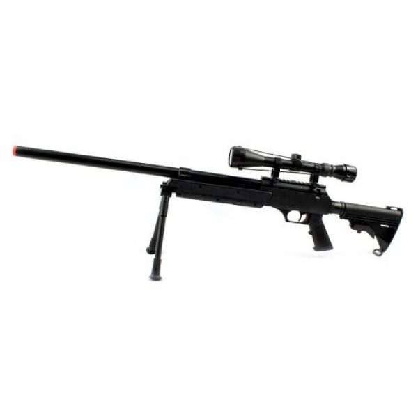 BBTac Airsoft Rifle 2 Spring Bolt Action Well m187d fps-550 Metal Airsoft Sniper Rifle Gun w/Scope, bi-pod(Airsoft Gun)