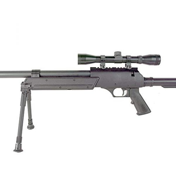 BBTac Airsoft Rifle 4 BBTac Powerful And Precision Spring Airsoft Sniper Rifle Gun, Heavy Weight with 3x Scope and Bipod