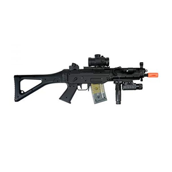 Double Eagle Airsoft Rifle 5 Double Eagle M82 Full Auto Airsoft Electric Gun Folding Stock 200fps