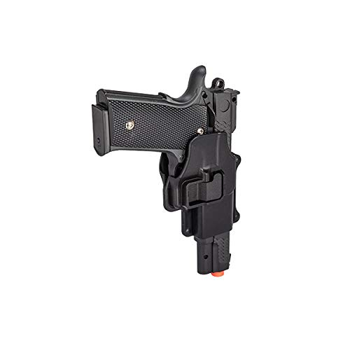 UKARMS Airsoft Pistol 5 UKARMS Galaxy G20H Full Metal M945 Airsoft Spring Hand Gun with Quick Release Holster