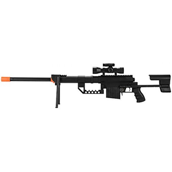 UKARMS Airsoft Rifle 2 UKARMS P1200 M200 Airsoft Sniper Rifle (Black) FPS 330