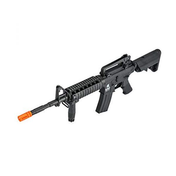 Lancer Tactical Airsoft Rifle 3 LANCER TACTICAL Gen 2 Upgraded RIS LT-04 AEG Metal Gear Electric Airsoft Gun, Black