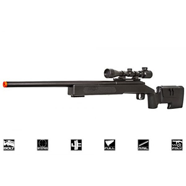 ASG Airsoft Rifle 1 ASG McMillian Sportline M40A3 Bolt Action Spring Sniper Airsoft Rifle (Black)