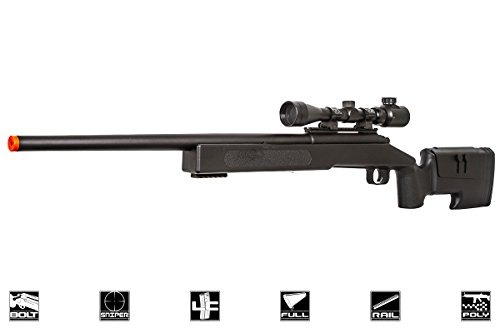 ASG  1 ASG McMillian Sportline M40A3 Bolt Action Spring Sniper Airsoft Rifle (Black)