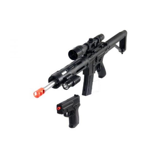 UKARMS Airsoft Rifle 2 UKARMS P1136 Marksman Sniper Spring Airsoft Rifle & Pistol Combo Gun Set FPS 260, Black