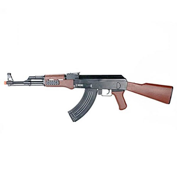 BBTac Airsoft Rifle 2 BBTac Airsoft Spring Rifle A&K Airsoft Gun Full Size Great for Starter Shoot 6mm BBS with Safe Mode, Wood Color