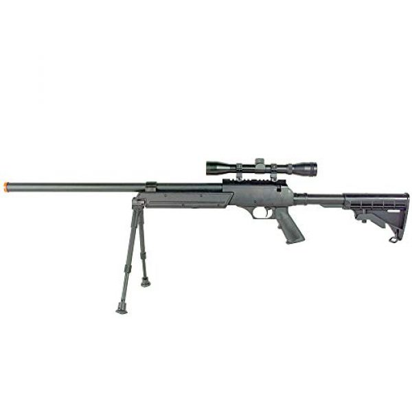 BBTac Airsoft Rifle 2 BBTac Powerful And Precision Spring Airsoft Sniper Rifle Gun, Heavy Weight with 3x Scope and Bipod