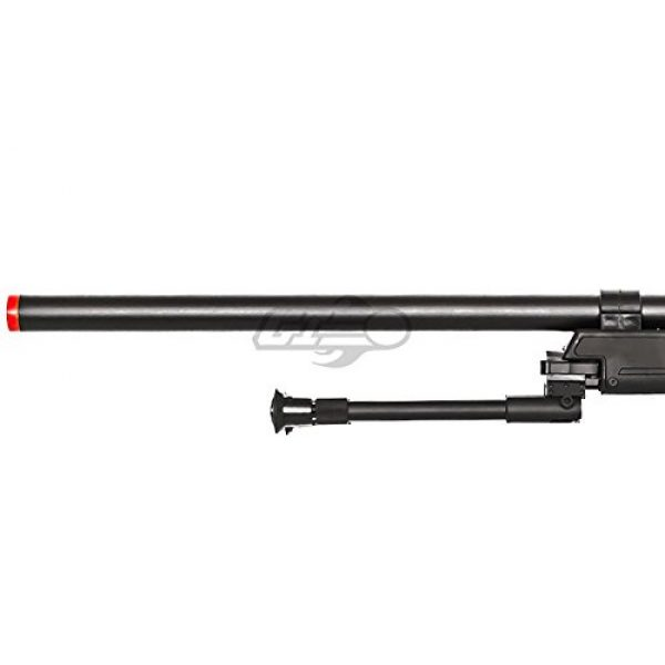 Well Airsoft Rifle 6 Well Full Metal ASR MB06 SR-2 Bolt Action Sniper Rifle Airsoft Gun (Black/ Bipod Package)