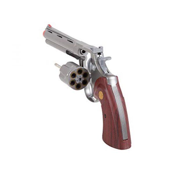 "TSD Airsoft Pistol 5 TSD PY-4480-8739 Zombie Killer .357 6"" Replica Spring Airsoft Revolver BB Gun, Silver, 6-Inch"