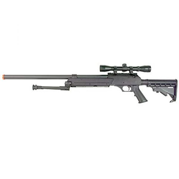 BBTac Airsoft Rifle 1 BBTac Powerful And Precision Spring Airsoft Sniper Rifle Gun, Heavy Weight with 3x Scope and Bipod