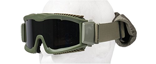 Lancer Tactical Airsoft Goggle 1 Lancer Tactical Airsoft CA-221GB Safety Goggles Smoke Lens Stylized Vents - OD GREEN