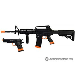 Sig Sauer Airsoft Rifle 1 Sig_Sauer Patrol Kit w/Spring Pistol & M4 AEG Airsoft Rifle [5000 BBS Included] (Black/Orange)