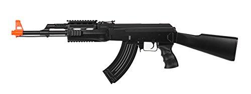 UKARMS Airsoft Rifle 2 UKARMS AK-47 AEG Semi/Full Auto Electric Airsoft Rifle Gun High Capacity Magazine FPS 150