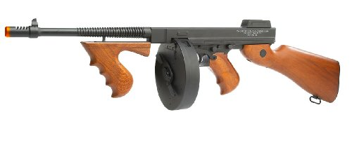 Thompson  1 Soft Air Thompson 1928 Electric Powered Airsoft Gun with Adjustable Hop-Up