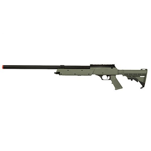 Well Airsoft Rifle 1 Well APS MB06 SR-2 Spring Bolt Action Airsoft Sniper Rifle (OD) - Single-Shot Airsoft Gun with Picatinny Weaver Rail
