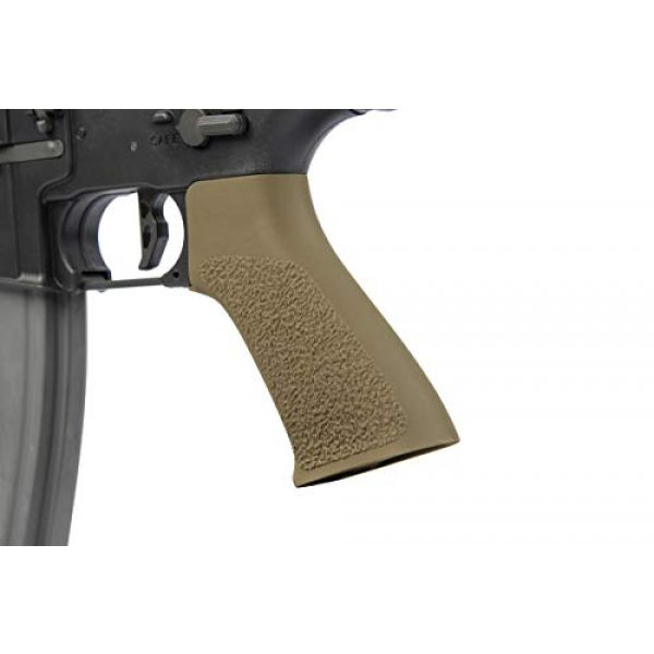 Elite Force Airsoft Rifle 4 Elite Force M4 AEG Automatic 6mm BB Rifle Airsoft Gun, CQC, Black/Tan (2279527)