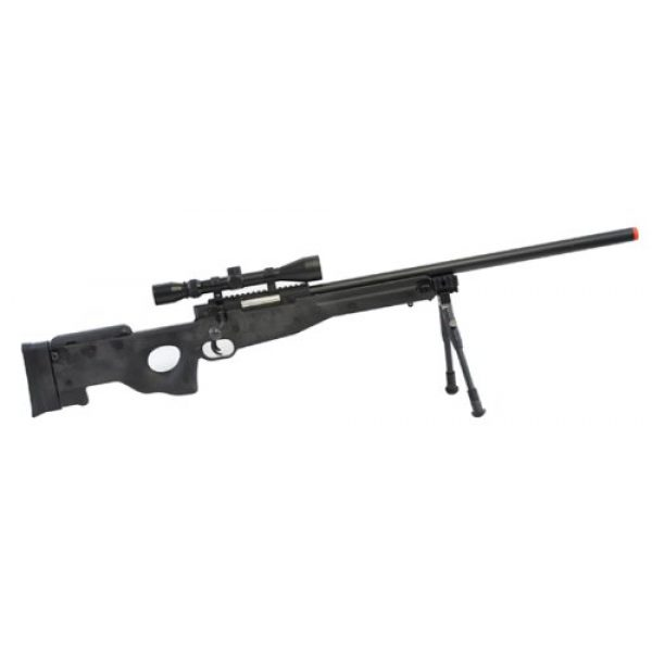 BBTac Airsoft Rifle 2 BBTac Airsoft Sniper Rifle BT-L96 Bolt Action Spring with Bipod & Scope Package