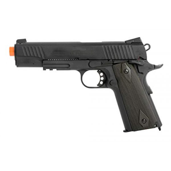 Colt Airsoft Pistol 2 Colt 1911 CO2 Full Metal Airsoft Pistol with Adjustable Hop-Up and Blowback, 380-390 FPS, Black