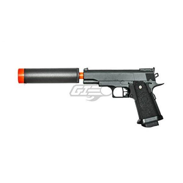 UKARMS Airsoft Pistol 2 UK Arms G10A Mini M1911 Hi Capa 4.3 Metal Spring Airsoft Pistol – Metal Spring Airsoft Gun for Beginners (Black)
