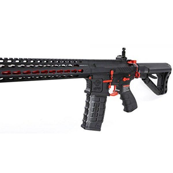 G&G Airsoft Rifle 3 G&G Combat Machine CM16 SRXL 6mm Airsoft AEG Rifle w/KeyMod & MOSFET, Red Edition
