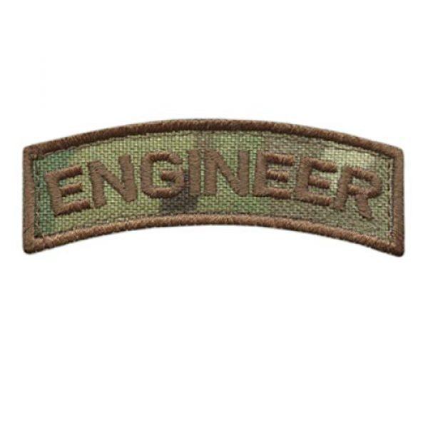 LEGEEON Airsoft Morale Patch 1 LEGEEON Engineer Shoulder Tab Badge Multicam OCP US Army Tactical Morale Hook&Loop Patch