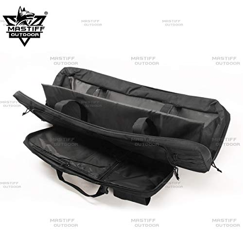 "Mastiff Outdoor Airsoft Gun Case 2 Mastiff Outdoor Tactical Double Long Rifle Pistol Gun Bag Firearm Hungting Pack Transportation Case Paintball Airsoft Length 36"" 42"""