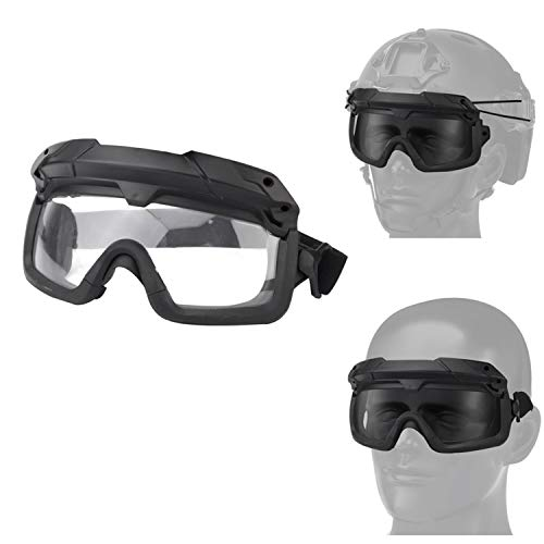 Jadedragon Airsoft Goggle 1 Airsoft Goggles Tactical Safety Goggles Impact Resistance Hunting Eyewear with Dual Mode Wearing methodfor Paintball Riding Shooting Hunting