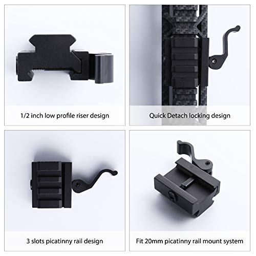 Pinty Airsoft Tool 2 Pinty Medium Profile Picatinny Riser Mount with QD Quick Release