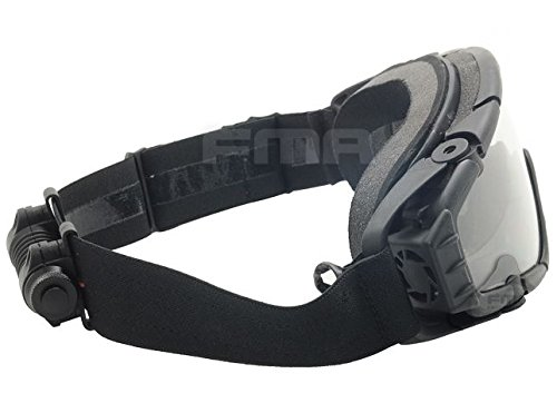 FMA Airsoft Goggle 4 AIRSOFT PAINTBALL OPS CORE JUMP FAN ANTI FOG CLEAR SI GOGGLES GLASSES BLACK SWAT