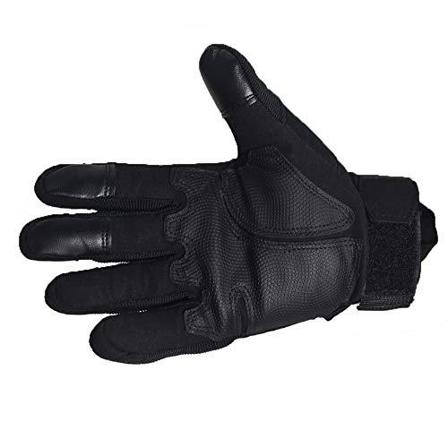 DKMOTORK Airsoft Glove 4 DKMOTORK 007 Airsoft Work Motorcycle Full Finger Gloves for Men Women Hunting Fishing Ski Winter Outdoor Sport Medium
