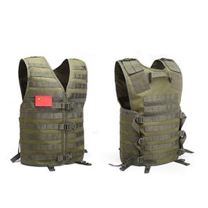 Shefure Airsoft Tactical Vest 1 Shefure Men's Molle Tactical Vest Hunting Gear Load Carrier Vest Sport Safety Vest Hunting Fishing with Hydration System