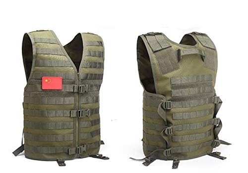 Shefure  1 Shefure Men's Molle Tactical Vest Hunting Gear Load Carrier Vest Sport Safety Vest Hunting Fishing with Hydration System