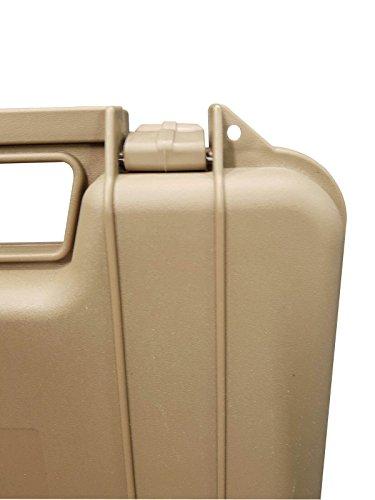 SRC  3 SRC Tan Foam Padded Plastic Pistol Gun Case