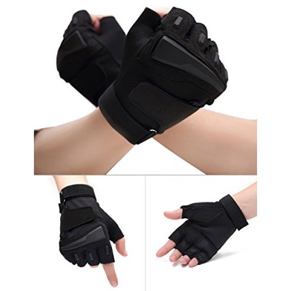 Campstoor Airsoft Glove 2 Campstoor Tactical Half Finger Gloves for Cycling Motorcycle Workout Hiking Camping Powersports Airsoft Paintball
