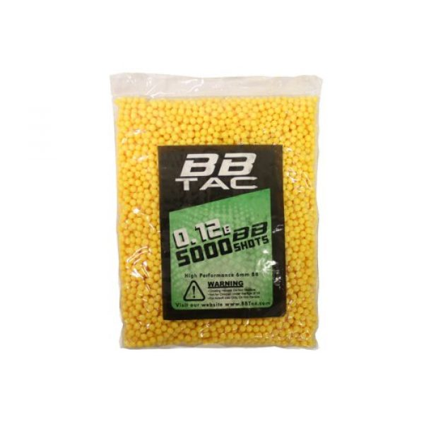 BBTac Airsoft BB 5 BBTac Airsoft BBs .12g Ammo 6mm (20,000 Round Bag, Multi Colors)