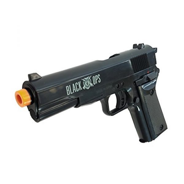 Black Ops Airsoft Pistol 3 Black Ops 1911 Airsoft Guns Ready to Play Kit - Includes 2 Spring Powered Hand Guns with 800 Rounds of Ammo and a Reusable Get Target Safe for Indoor Use
